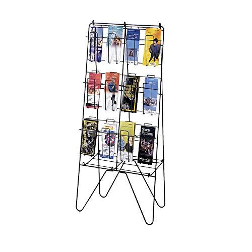 Safco Model Free-Standing Brochure Display, Charcoal (4127) -
