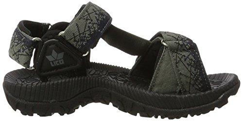 Lico Samoa V - Zapatillas de Trekking y Senderismo de Media Caña Niños Gris (Grau/marine Grau/marine)