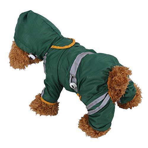 Jim Hugh Pet Raincoat Dog Jacket Reflective Safety Dog Clothes Hoodie Dog Coat Pet Waterproof Cloth Accessories