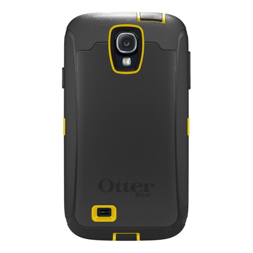 (OtterBox Defender Series Case and Holster for Samsung Galaxy S4 - Carrier Packaging - Black/Yellow)