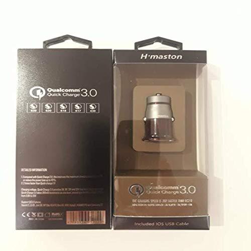 Tomada Car Charger USB 2.1A Qualcomm Cabo iPhone H304Q Vermelho, H Maston, 37852243, Vermelho