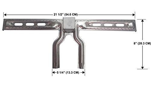 Grill Valueparts (1-Pack Stainless Steel Burner for Select Coleman 2000, 3000, Grill Master BG4622YPB, BG6522RPB, Sunbeam BG4622YPB-S, FG7622RPB-S Grill Models (Dims: 21 1/2
