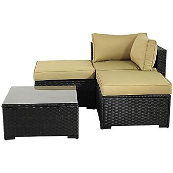 Amazon Com Tangkula Outdoor Wicker Furniture Set