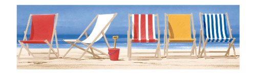 York Wallcoverings BG1665BD Beach Chairs Border - York Lounge Chair