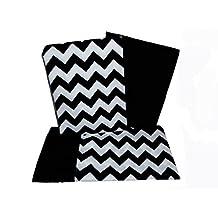 BabyDoll Chevron Crib and Toddler Sheet Set, Black