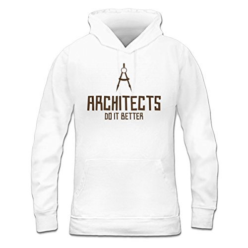 Sudadera con capucha de mujer Architects Do It Better by Shirtcity Blanco