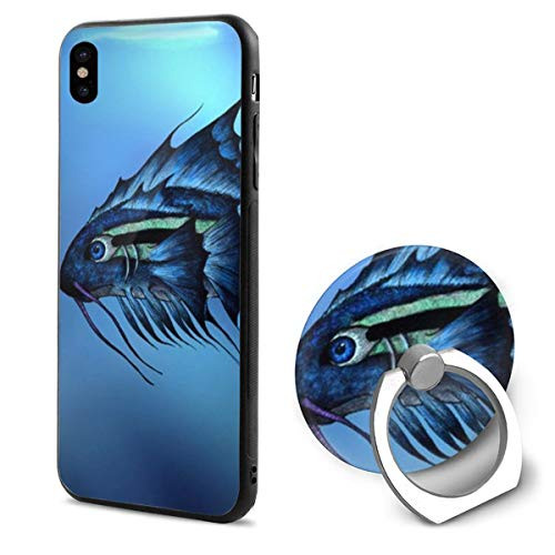 IPhone X Case Fantasy Fish With Ring Holder 360 Degree Rotating Stand Grip Mounts Slim Soft Protective Cover -