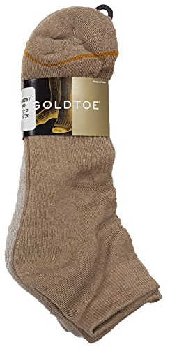 - Gold Toe Men's Classic Casual Argyle 6-Pack Sock Bundle (Sock Size 6-12.5 fits Shoe Size 10-13, Tan Low Cut)