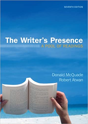 The writers presence a pool of readings donald mcquade robert the writers presence a pool of readings seventh edition fandeluxe Image collections
