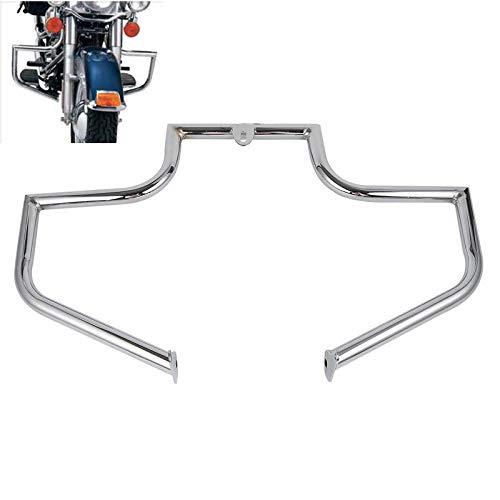 - XFMT Motorcycles Chrome Engine Guard Highway Crash Bar Compatible with Harley Heritage FLSTC FLSTF Softail Fat Boy
