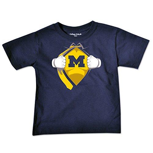 Michigan Wolverines Clothing (NCAA Michigan Wolverines Toddler Short Sleeve Super Hero Tee, 5/6 Toddler,)