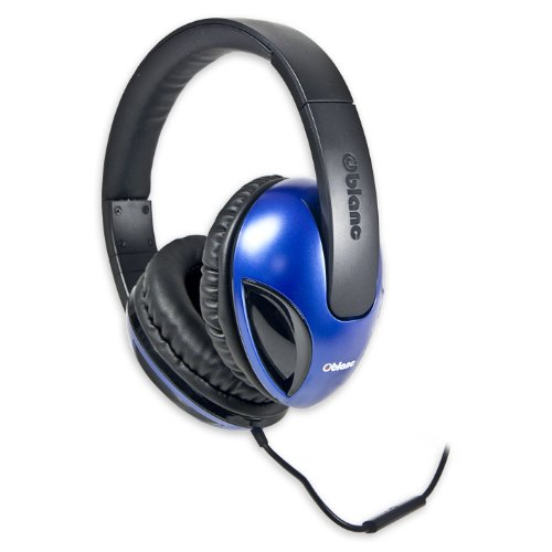 Syba OG-AUD63041  NC-1 Blue Cobra Headphone with In-line Microphone, Blue