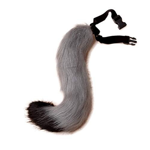 (BANLAN Faux Fur Fox Costume cat Tail Adult/Teen Cosplay Halloween Christmas Party Costume One Size(Black and)