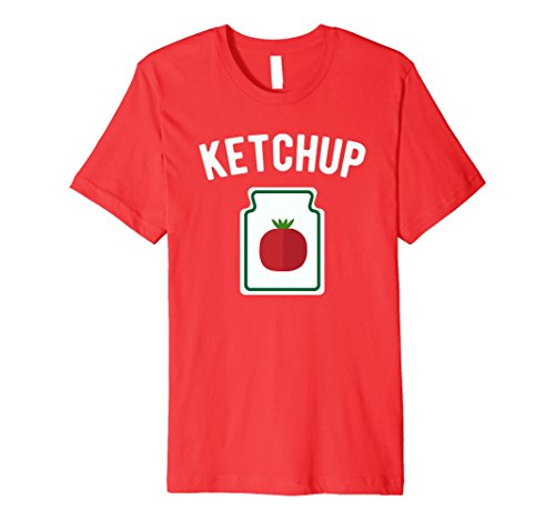 Mens Tomato Ketchup Bottle - Funny Halloween Costume T-Shirt Medium Red (Funny Original Halloween Costumes For Couples)
