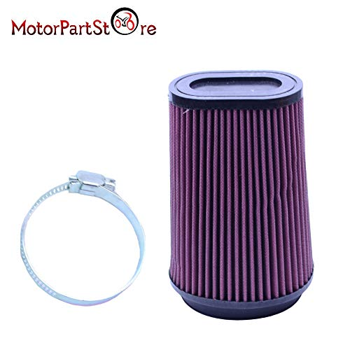 VistorHies -Motorcycle Air Filter for Yamaha 3502 Banshee 350 Replacement Air Filter Pro Design Trinity Flow Kit YA3502 - Filter D30 Replacement