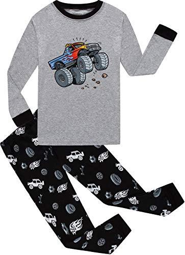 Little Boys Car Pajamas 100% Cotton Christmas Kids Sleepwear Long Sleeve Clothes Toddler PJS Set