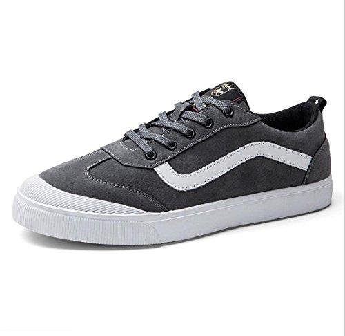 scarpe da scarpe scarpe da uomo in WSK da uomo pelle Scarpe sportive piatte con da scarpe nuove guida ballo scarpe gray zAfqw5Yf