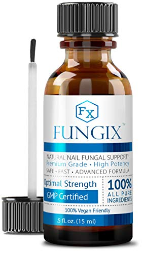 Fungix - Antifungal Nail Treatment for Toenails & Fingernails - With Tea Tree Oil, Undecylenic Acid & Other Essential Oils - Stops and Prevents Nail Fungus, 1 Bottle