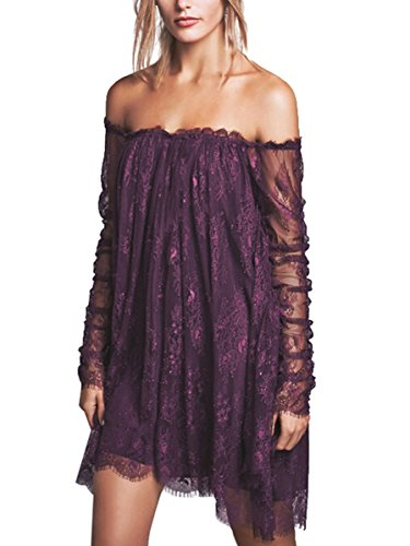 CA Mode Women Off Shoulder Fairy Angel Cocktail Party Prom Trapeze Mini -