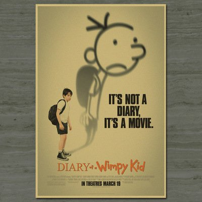 Fangeplus(TM) Diary of a Wimpy Kid Movie Poster Antique V...