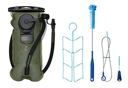 LANZON 3L/3 Liters Hydration Water Bladder with Cleaning Kit – Military Green – Leakproof Reservoir, FDA Approved, Hiking Bladder Review