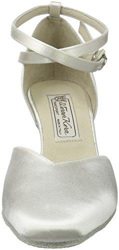 Werner Kern - Zapato de baile para mujer (tacón de 6,5 cm) Satin Weiß