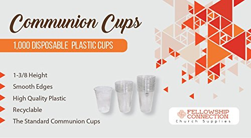 Fellowship Connection Communion Cups - 1000 Cups per Box - Plastic - Fits Standard Holy Communion -