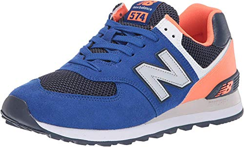 New Balance Men's 574v2 Sneaker, Team Royal/Dark Mango, 6.5 2E US