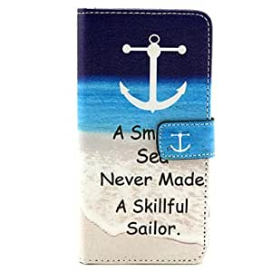 LCJ Anchor Pattern PU Leather Case with Stand and Card Slot for Samsung Galaxy A5