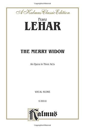 The Merry Widow: Vocal Score (English Language Edition), Comb Bound Score (Kalmus Edition)