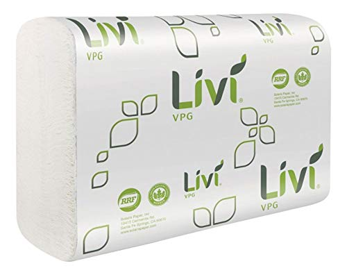 Livi Multifold Paper Towels - 1 Ply - Multifold - 9.06 X 9.45 - White - Virgin Fiber, Paper - Eco-friendly, Soft, Embossed - For Multipurpose - 250 Sheets Per Pack - 16 / Carton
