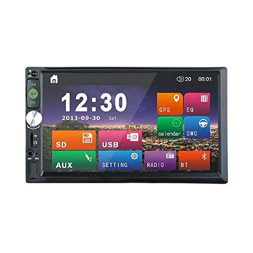 2DIN Capacitive Touch Screen 7 inch Car Stereo Phone Link FM only Bluetooth MP3 MP4 Player with USB SD HD Decoding(No DVD Player) ()