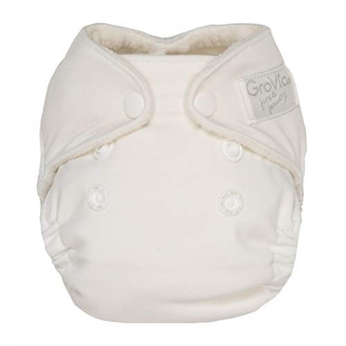 Price comparison product image GroVia Newborn All in One Snap Reusable Cloth Diaper (AIO) (Snow)