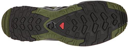 Salomon Herren Xa Pro 3D Traillaufschuhe, Grau, 49.3 EU Mehrfarbig (Chive/black/beluga)