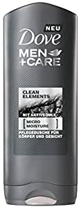 Domestos Dove Men + Care Gel Clean Elements 250ml, 6unidades (6x 250ml)