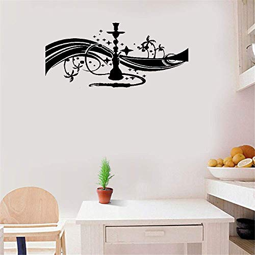 Poiuvy Vinyl Wall Sticker Mural Bible Letter Quotes Smoking Hookah Shisha Bar for Living Room Bedroom ()