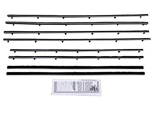 - Beltline Weatherstrip 8-Piece Inner Outer Seals Kit Doors Quarter Windows Fits 1960-63 Falcon & Comet 2DR Sedan (F113)