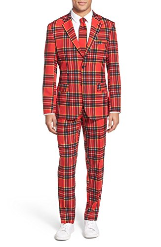 [Men's Suit The Lumberjack Plaid Suit (US 36)] (Mens Lumberjack Costumes)