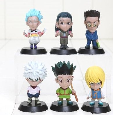 6-Anime-Hunter-x-Hunter-Characters-PVC-Hard-Rubber-Figure-Set-US-Seller