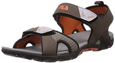 35% discount on Fila Men Lander 2 Brown Rubber Sandals & Floaters at Amazon India, Amazon. in