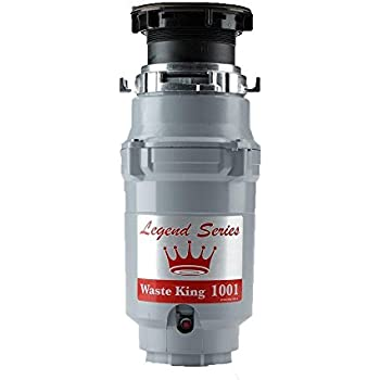 Waste King Legend Series 1/2 HP Continuous Feed Garbage Disposal with Power Cord - (L-1001)