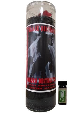 品質保証 ブラックDestroyer – Dressed Scented Scented Candle Dressed – Veladora Preparada Negroデストラクタ B078J8RRSB, カミノカワマチ:31e95010 --- egreensolutions.ca
