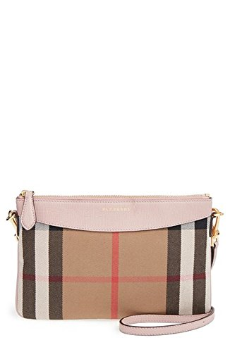 Burberry Women's House Check and Clutch Bag Pale Orchid Burberry Purse