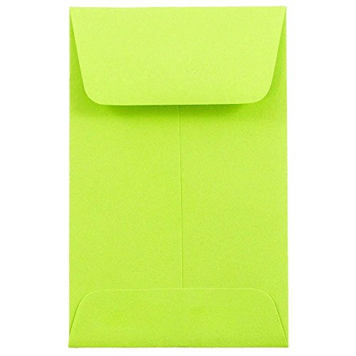 Lime Green Envelopes (JAM Paper #1 Coin Envelopes - 2 1/4