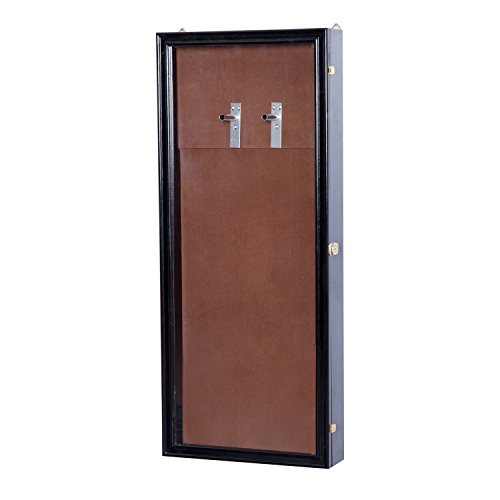 HOMCOM Guitar Shadow Box Lockable Display Security Case - Black by HOMCOM