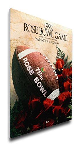 NCAA Washington Huskies 1992 Rose Bowl Canvas Program Cover, Regular (Bowl Rose Huskies Washington)