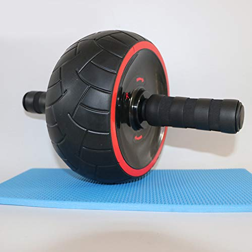 Price comparison product image Sala-Sportswear - Abdominal Wheel Ab Roller Trainer with Training Knee Pad Mat Fitness Equipment Gym Exercise Men Body Building
