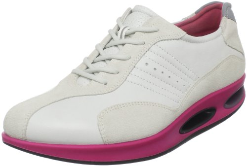 Shadow Women's Beetroot White With ECCO Sole Lace Up White Tao wHxCI7q