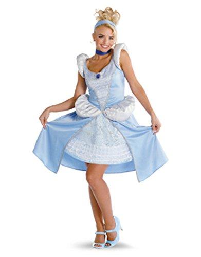 Cinderella Princess Prestige Adult Disney Costumes (Cinderella Sassy Prestige Adult Costume -)