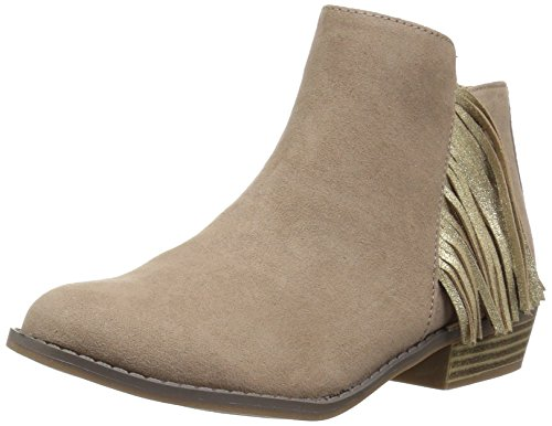 Dolce Vita Moccasins - Dolce Vita Girls' SAIDY Ankle Boot, Almond Microsuede, 3 M US Little Kid